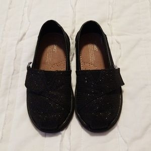 Toms Black Glitter Shoes